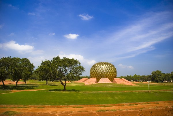 Matrimandir: A meditation centre in Auroville, Pondicherry, India.