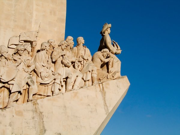 Discoveries monument: The portuguese discoveries monument, Lisbon, Portugal.