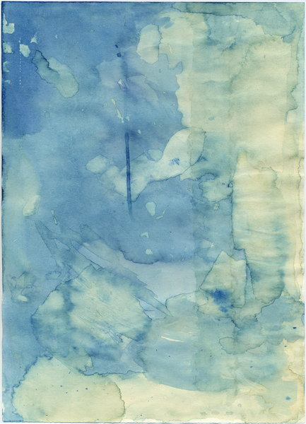 Paper blue: paper+tea+blue ink