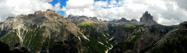 Panorama in Dolomites: panorama view in italian Dolomites, famous ski and trekking paradise