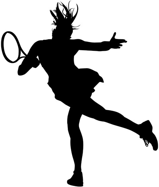 Tennis Silhouette: Vector Art