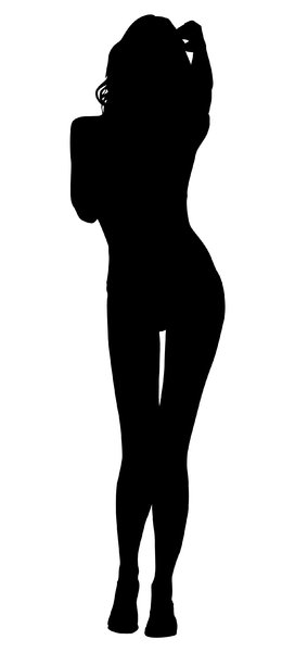 Silhouette Pose 11: Vector Art