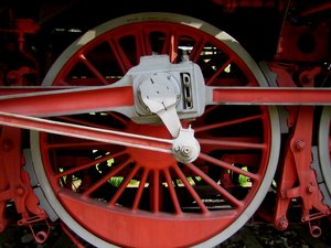 wheel: wheels of an old steam locomotive