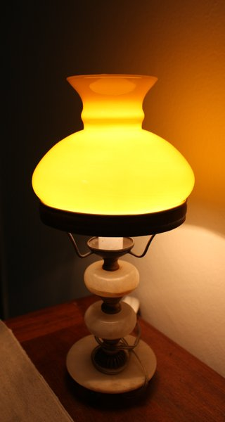 Pretty Lamp 2: Lamp with a soft orange glow