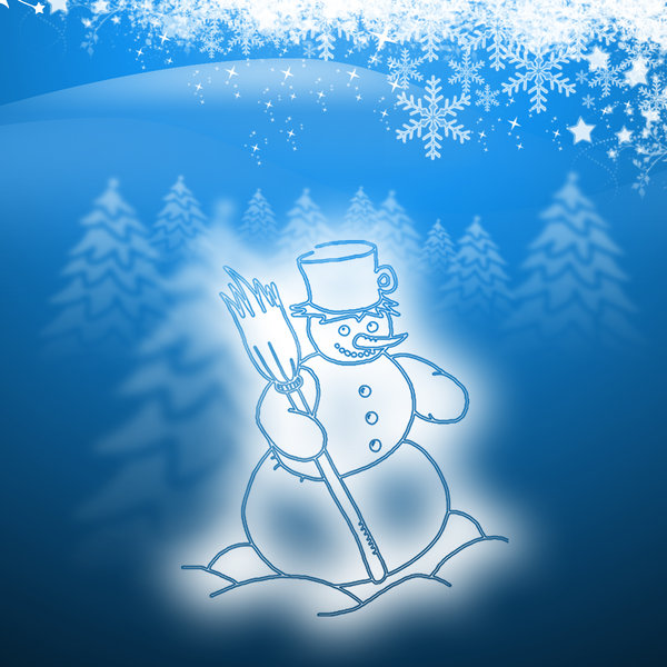 Snowman.: New Christmas design images from 2010 collection you can download from http://www.dezignia.com