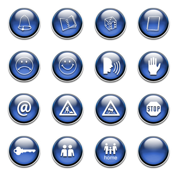 Glossy web button set.: You can download this image as PSD file from http://www.dezignia.com