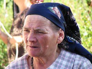 old lady: romanian old lady portrait
