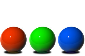 R G B: 3D balls in arrangement to depict  multiple concepts like:FAMILY,FRIENDS,TEAM/CROWD