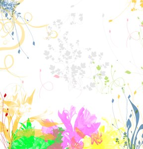 Celebration: A colorful floral background for Corporate and General concepts.