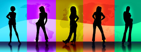 World Wide Models 1: Fashion portrayal of model silhouettes against a world map seen through 5 colored portals.Before you download please RATE and if you like it please comment if you don't like it make sure you comment :)ThanksBarun