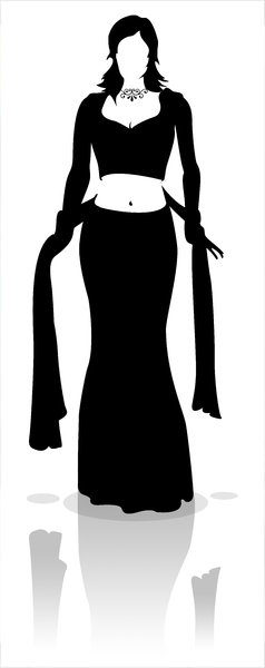 Model Silhouette: Silhouette of a female fashion model