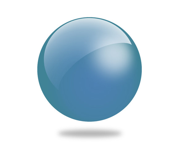 Glossy Ball 1: Set of different colored gloss ball illustrations