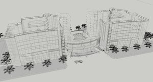 Building 3D and wireframe 12