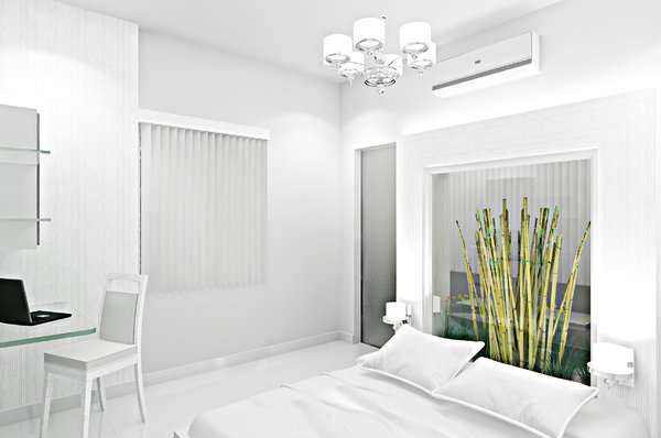 Bedroom 3D: Concept for a bedroom with nature inside