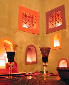 Moroccan Dining: A dining set in the Moroccan style.NB: Credit to read