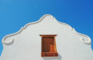 Gable: A Cape Ditch style gable, South Africa.NB: Credit to read