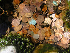 Coins in the water 3