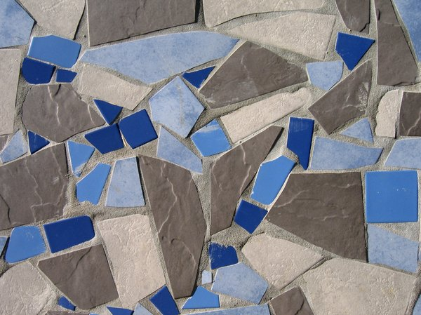 abstract blue tiles texture