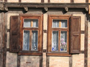 old wooden windows