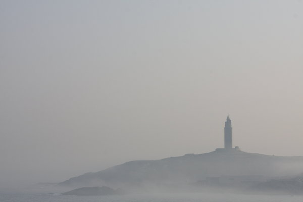 Foggy tower