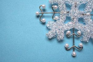 christmas pattern: a tree decoration