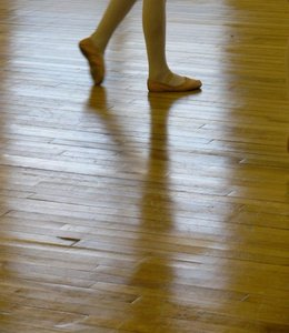 Pursuit of a dream: Young ballet dancer in motion.  Cornwallis Academy of Dance, Kentville, Nova Scotia, Canada