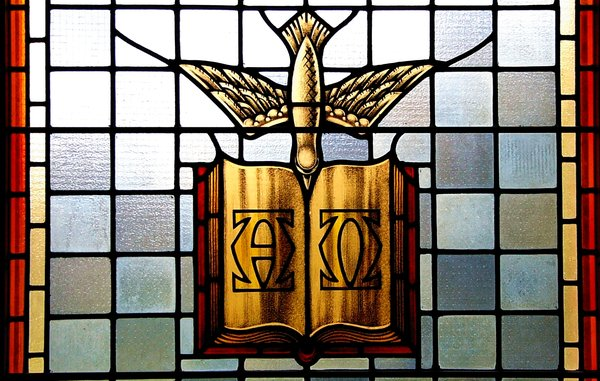 The Living Word: Stained Glass from Wolfville Baptist Church (founded 1765) Wolfville, Nova Scotia, Canada