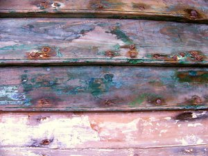 The Ancient Sea II: Side of an old boat at the Halifax waterfront, Halifax, Nova Scotia, Canada