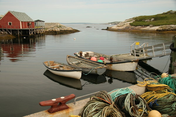 Fishing Village: Peggy's Cove, Nova Scotia, Canada