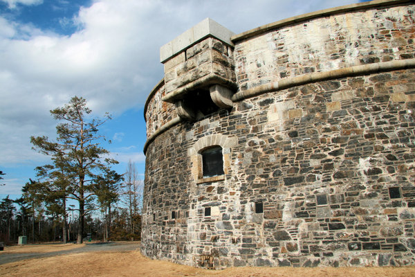 Prince of Wales Martello Tower: This round stone tower was built by Prince Edward in 1796 and is found at Point Pleasant Park in Halifax, Nova Scotia. It was the first of its kind in North America, the prototype