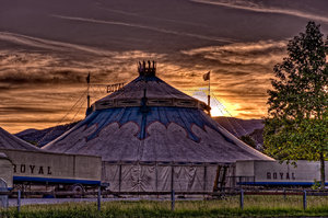 Circus: Circus in a sunset