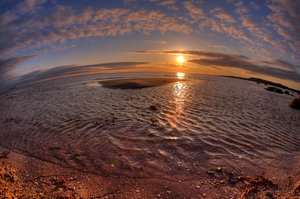 Fisheye beach - HDR