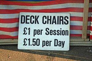 Deckchairs: Made me laugh!