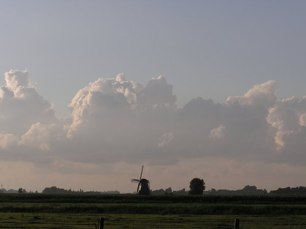 Typical dutch landscape and sk