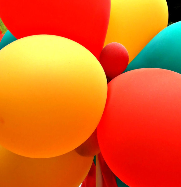 balloon colours: colourful balloons - interior decorations