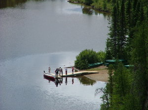 people on lake: Took in aiguebelle's park, Abitibi. Québec, Canada.