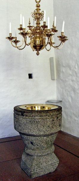 Jelling Church detail - baptis