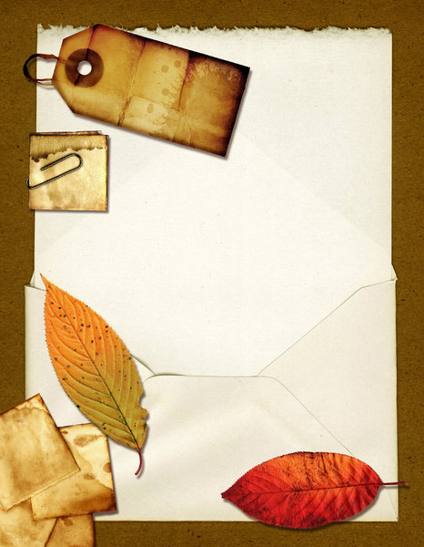 Letter Collage 6: Variations on a letter collage.