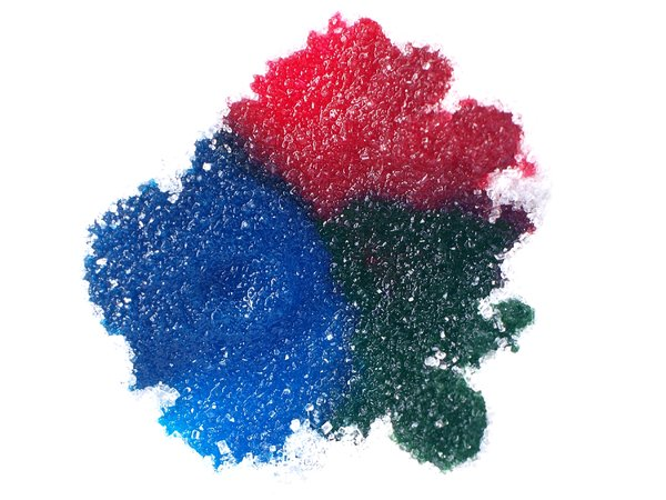 RGB - dyed sugar