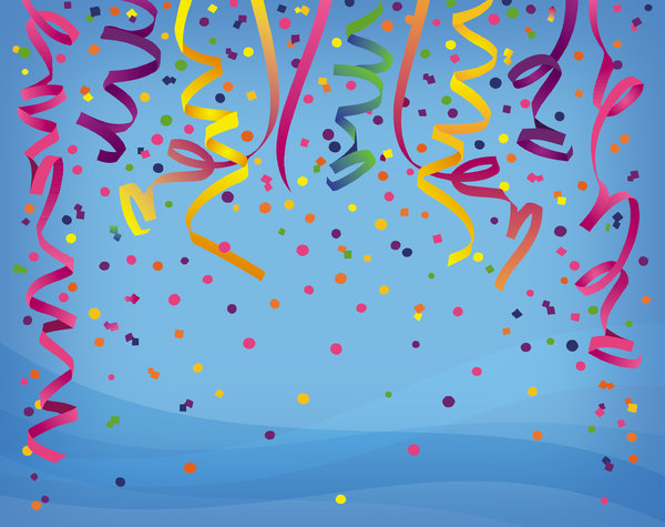 Confetti 3: Variations on a confetti background.