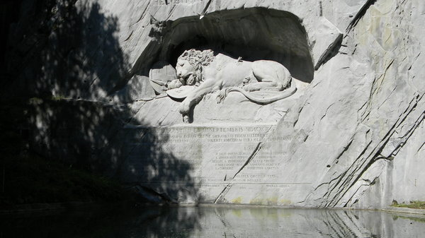 Lion of Lucerne: Some shots of the Lion in Lucerne, Switzerland.
