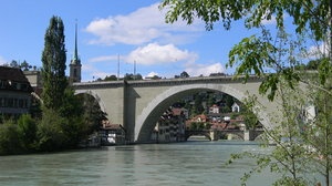 Bern on the Aare: The Aare River through Bern, Switzerland