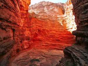 Red rock: A natural amphitheater made inside of a red moutain