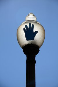 Streetlight & handprint: Streetlight & handprint