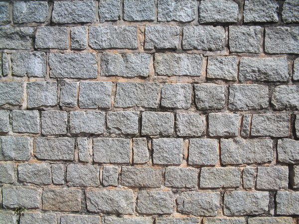 There are bricks on the wall: Rock/brick texture
