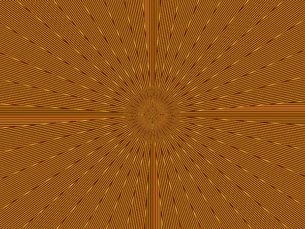 radiating gold pulse