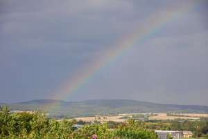 rainbow 3: rainbow in the Germany after heavy rain
