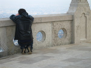 taking a picture: taking a picture on the Buda hills