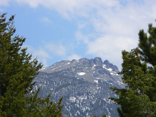 Colorado: Some shots of the mountains from our lodge in Estes Park, Colorado. I believe this is the same peak, just a slightly different angle:
