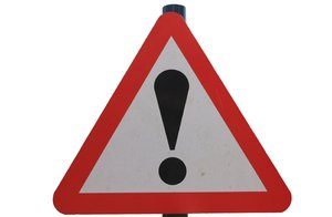 Warning!: Warning triangle sign (isolated)
